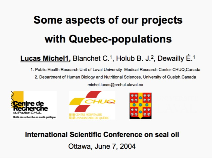 Some aspects of our projects with Quebec-populations
