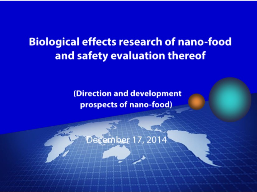 Nano Food and Safety Evaluation Test 3