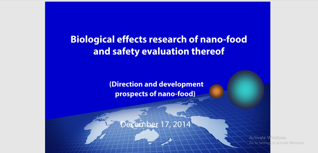 Nano Food and Safety Evaluation Test