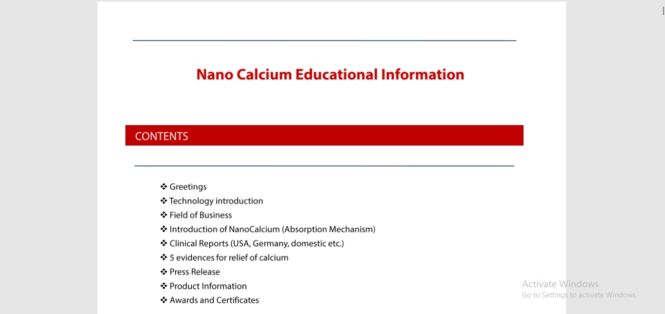 Nano-Calcium Educational Information min