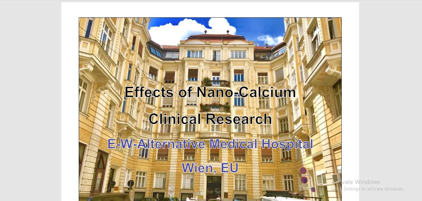 Effects of Nano-Calcium Clinical Research 2